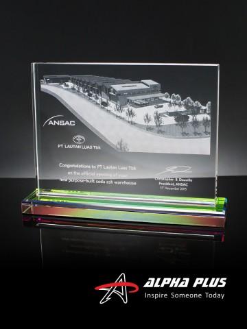 CAP25 Crystal Plaque - Rainbow Base