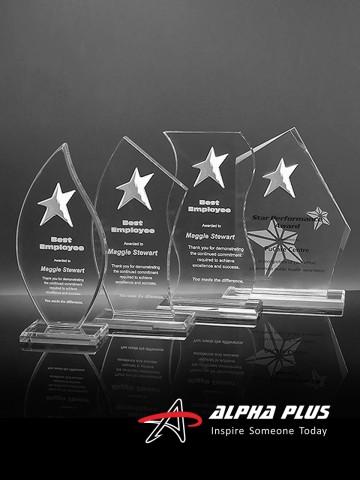 Acrylic Awards with All Star
