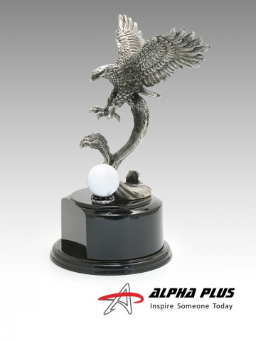PT-12 Pewter Eagle with Golf Ball Holder