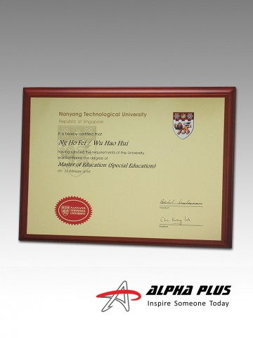 A4 Certificate on Beech Wood Plaque