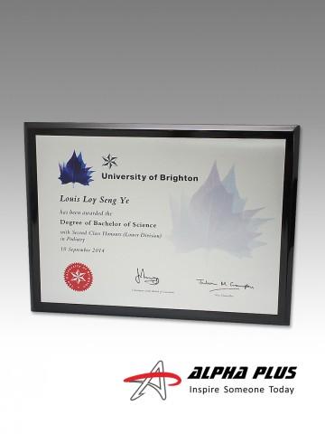 Certificate Plaques - Landscape