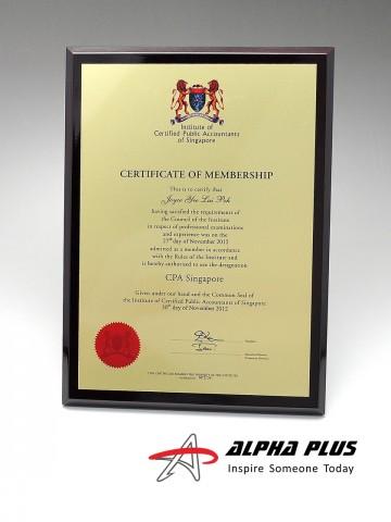 Certificate Plaques - Portrait