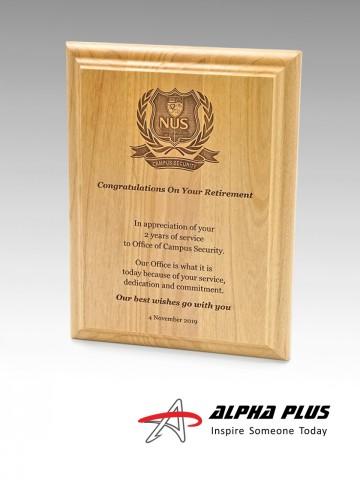 Red Alder Wood Plaque