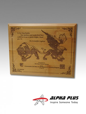 Red Alder Wood Plaque