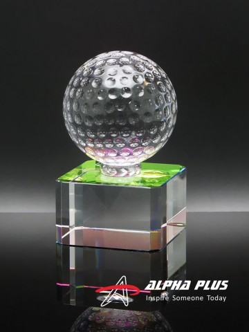 Golf Ball on Rainbow Crystal Base